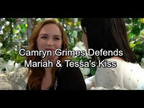 The Young and the Restless Spoilers Camryn Grimes Responds to  Over Controversial Maria and Tes