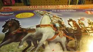 Lindberg 1/16 Horse-drawn Field Artillery Confederate Model Kit Open Box Review