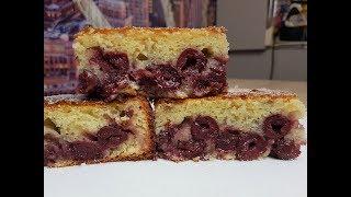 Самый простой пирог с вишней!!! Вишнёвый пирог!!!