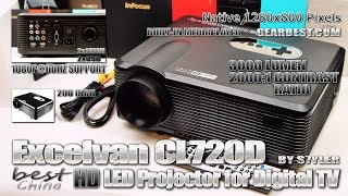 Best China HD Projector? Excelvan CL720D - Video by s7yler