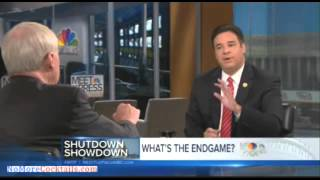 Raul Labrador schools Chris Matthews - 'Your old boss Tip O'Neil shut the gov't dow 12 times'