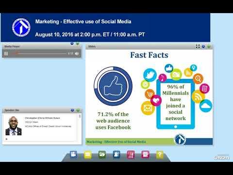 NCUA Webinar:  Marketing - Effective Use of Social Media (8/10/2016)