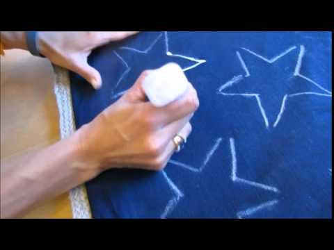 STAR STRUCK!  Super Cool 4th of July DIY Bleach Pen Pillow!