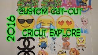 Cricut Explore Air Tutorials: How To Do Custom Cut-Outs For Parties 2016