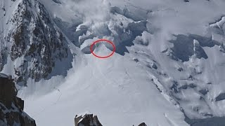 Mont Blanc snow avalanche june 2016. 1 dead.