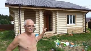 видео Дома и бани из оцилиндрованного бревна