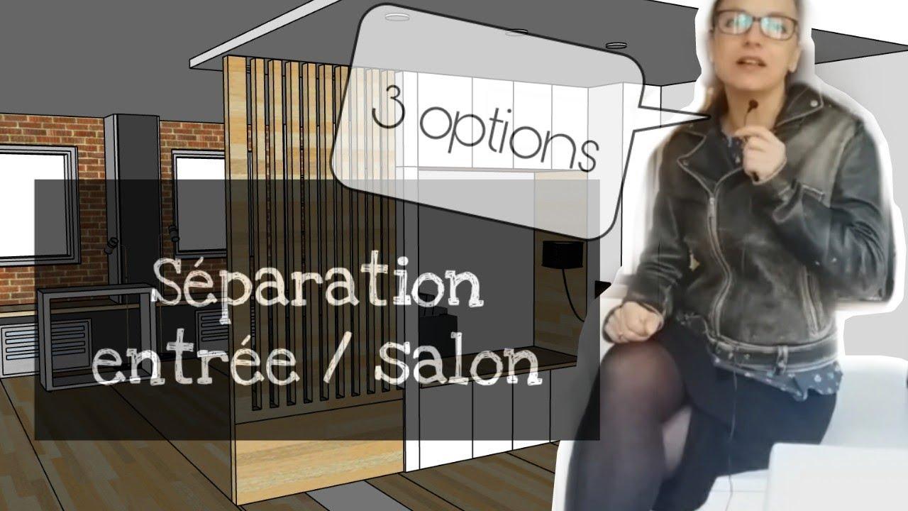 Creer Une Separation Dans Un Salon comment créer une entrée dans un espace ouvert? 3 options meuble sur mesure  / banquette / claustra