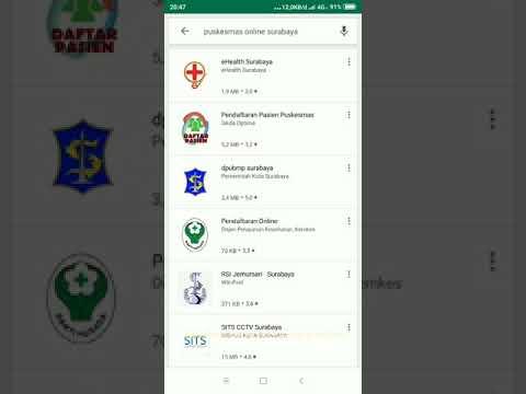 Cara Download Aplikasi Puskesmas Online (eHealth) Surabaya
