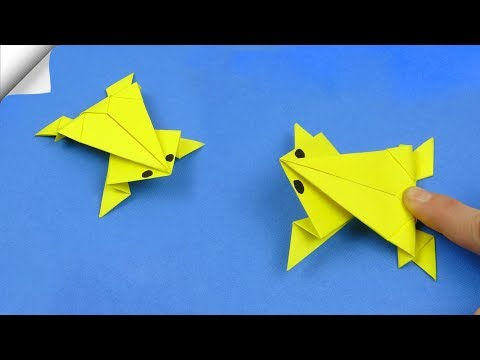 DIY crafts easy | Paper toy Jumping frog