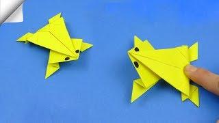 Вироби вироби легкі   паперової іграшки стрибаюча жаба