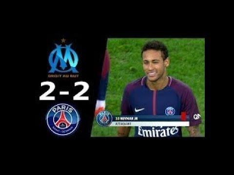 Marsilya vs PSG 2 2 Maç özeti Fransa Lig 1 22 Ekim 2017