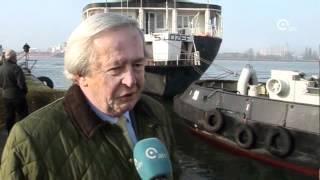 Kerkschip Sint-Jozef weggesleept