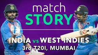 IND v WI, 3rd T20I, Match Story: King Kohli drives India to a series win