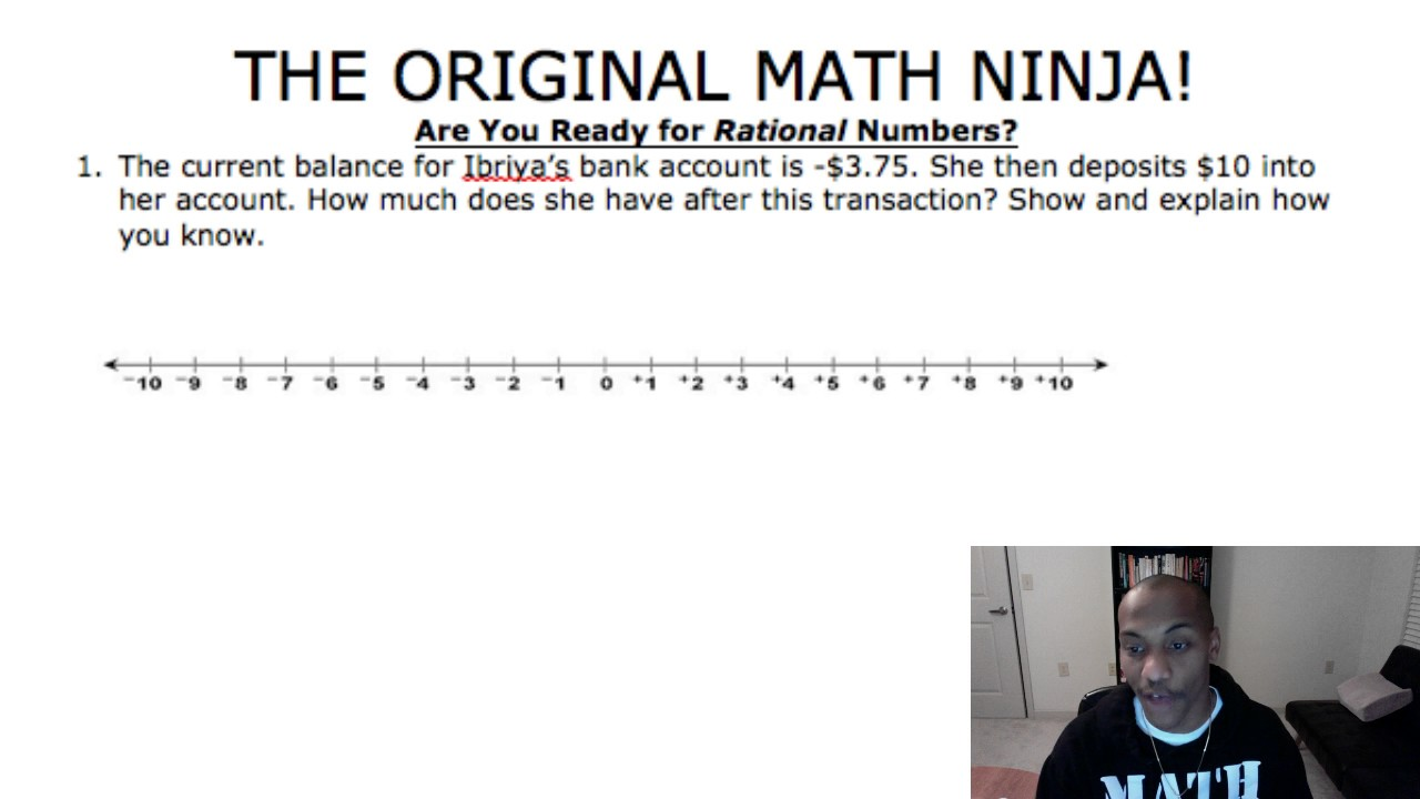 Quot Rational Numbers Word Problems Quot Common Core 7th Grade