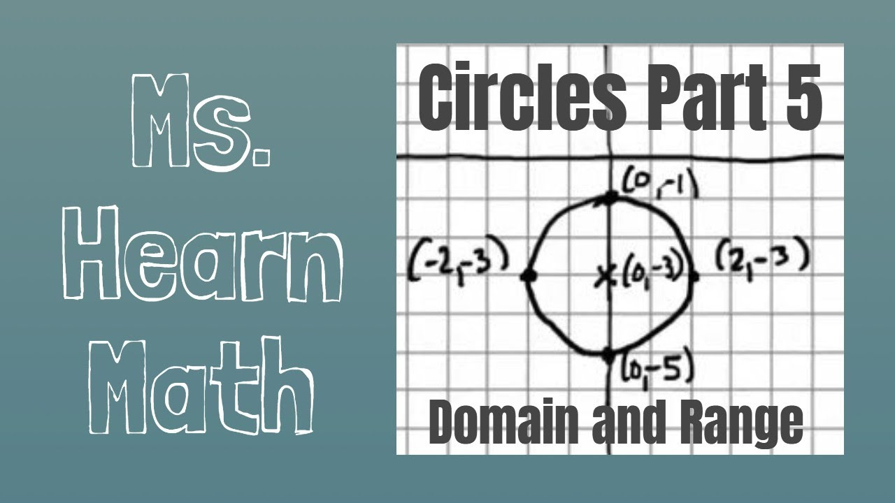 circle given graph of a circle identify domain and range youtube. Black Bedroom Furniture Sets. Home Design Ideas