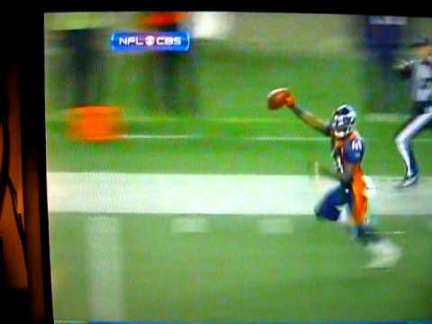 Broncos/Chargers Kickoff and TD run!! 1-2-10