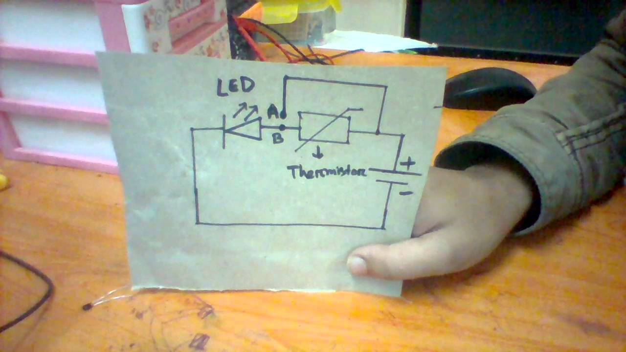 Thermistor : Explained easily with a practical circuit arrangement ...