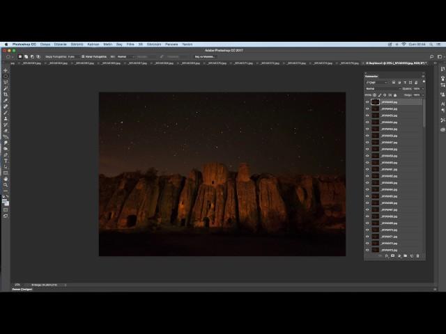 E-Fotografine - Photoshop Dersleri - Yıldız fotoğraflarını birleştirmek