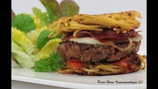 Mon Burger à l'italienne à la plancha / Italian Burger by Chefounet