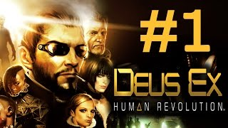 Retroигры  Deus Ex Human Revoluiton  Прохождение на русском  ч1  Новый человек Хочешь новую серию  Ставь лайк Наша