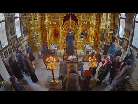 Великое повечерие с чтением второй части канона прп.Андрея Критского (видеокамера №1)