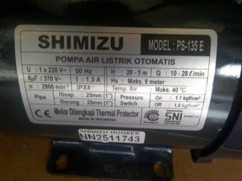 Harga Shimizu Ps 135 E Spesifikasi Maret 2021 Pricebook