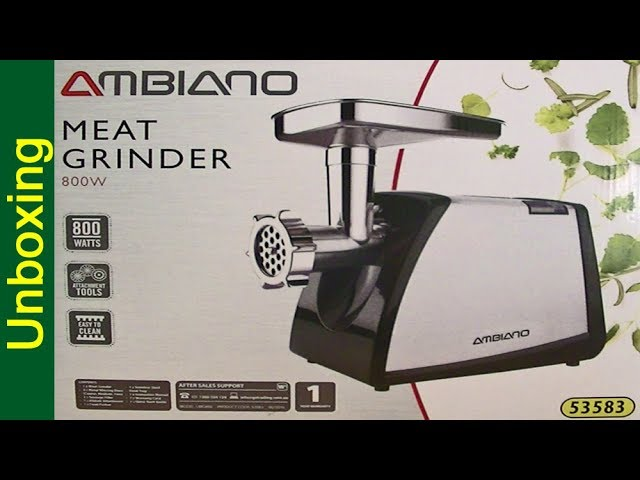 Aldi Ambiano Meat Grinder Unboxing Youtube