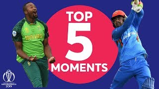 Terrific Tahir  South Africa vs Afghanistan - Top 5 Moments  ICC Cricket World Cup 2019