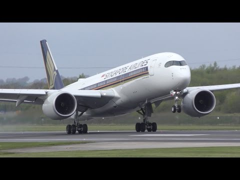 40 Landings in 20 Minutes: A380, 777, A350, 787, 747, A330, 767, 757, A321, 737 Manchester Airport
