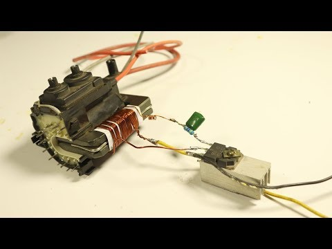 Make Super high Voltage with Old Television Transformer