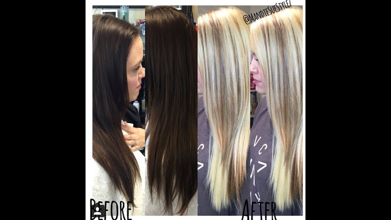 Brunette Goes Blonde No Damage Olaplex One Sitting