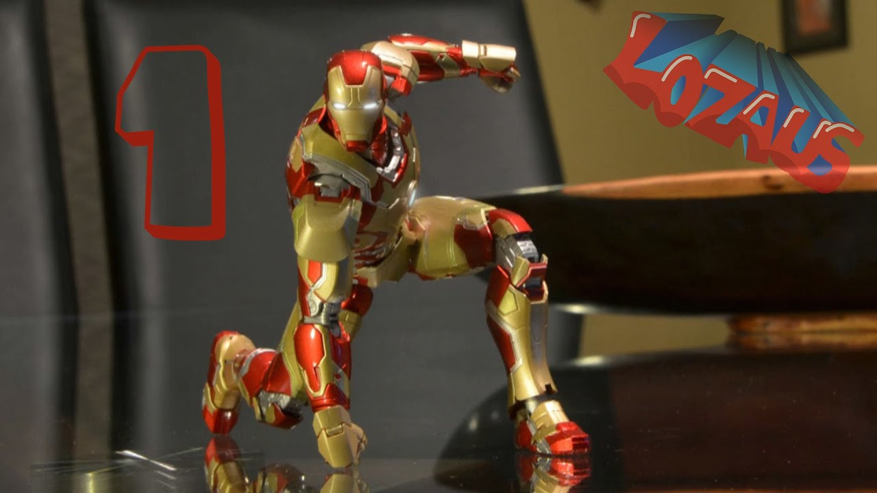 ironman stop motion action video part 1 youtube
