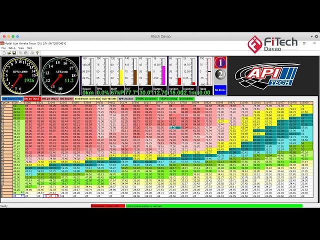 APITech ECU tuning 101 Video 2 - MAP vs RPM tuning using Datalogger