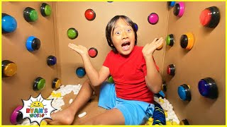 100 Buttons Challenge but only 1 let you escape...and more 1hr kids video!