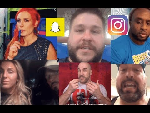 WWE Snapchat/IG Moments ft. Kevin Owens, Becky Lynch, Cesaro, Charlotte, New Day n MORE