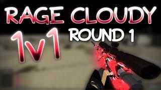 1v1 with RaGe CLOUDY (I TRICKSHOTTED HIM) Part 1