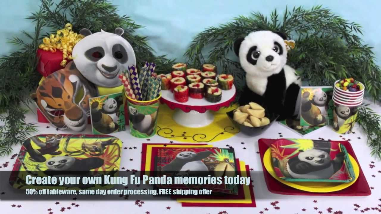 Kung Fu Panda Party Supplies Youtube