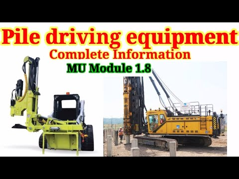 Pile driving equipment/Pile driving rigs(skid mounted, crane mounted&floating)& Pile driving hammers