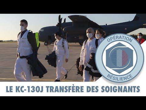 RÉSILIENCE : Le KC-130J transfère des soignants de Quimper à Paris