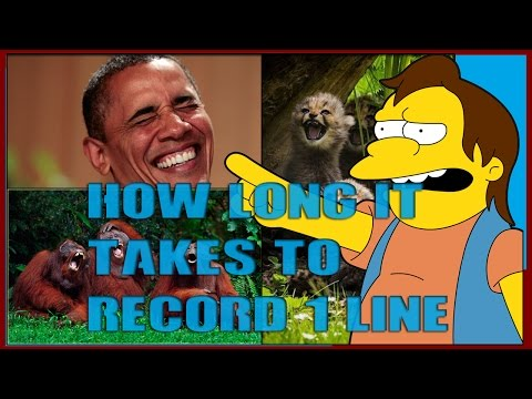 How long it takes to record 1 line | Dumbass Parodies blooper 1