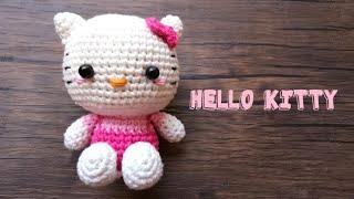HELLO KITTY | SANRIO| AMIGURUMI CROCHET TUTORIAL FREE PATTERN