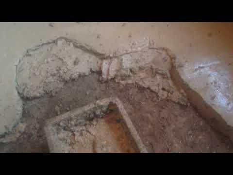 Стяжка пола своими руками. Глино-песчаный раствор.