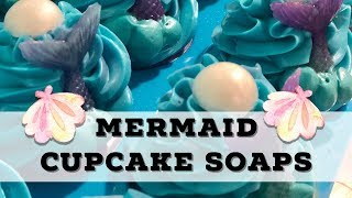 Mermaid Cupcake Soap!!