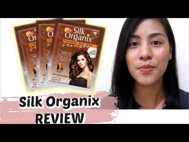 49 Php Silk Organix Permanent Hair Color Shampoo Review Steffirayvlogs Youtube