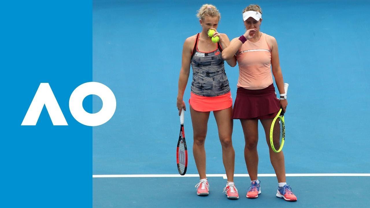 Krejcikova/Siniakova v Adamczak/Moore match highlights (2R) | Australian Open 2019