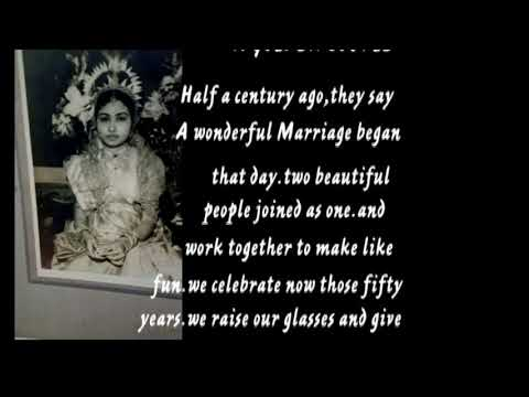 50th Weding Anniversary of