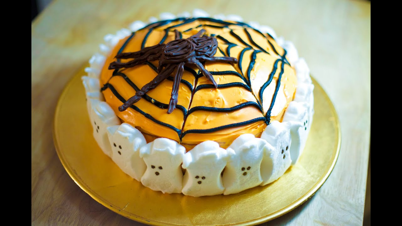 Super cute halloween cake youtube Cute easy halloween cakes