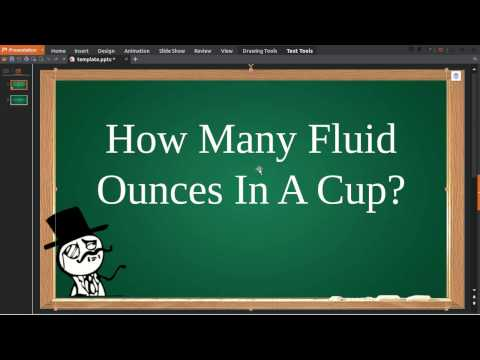 How Many Fluid Ounces In A Cup