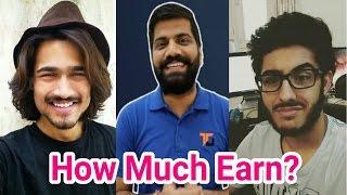 How Much Earn Bb Ki Vines,Carry Minati ,Technical Guru Ji.HOW Much They Earn From Youtube.