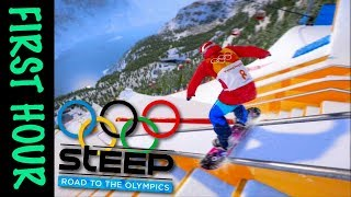 Steep: Road to the Olympics (PS4) | Snowboard Challenges & Presentation - First Hour!
